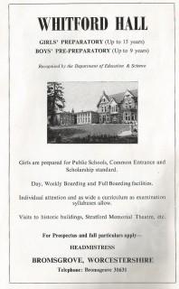 Fig. 1. Whitford Hall, Bromsgrove (now demolished).