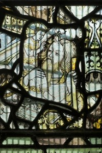 Fig. 5. The Christ Child baptizing St Christopher, church of St Peter and St Paul, Birtsmorton. © The author.
