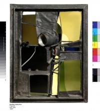 Fig. 1. Geoffrey Clarke, Fragment, 1956?, Glass, lead, 91.4 x 73 x 15.2cm.