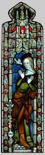 Fig. 4. The Virgin Annunciate, c.1340, Stained Glass Museum, Ely.