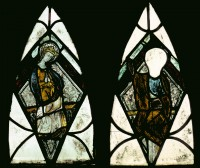 Fig. 2. The Virgin Enthroned and Christ in Majesty from St Nicholas's Church, Stanford on Avon, before conservation. (c) Barley Studio