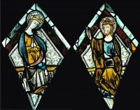 Fig. 3. The Coronation of the Virgin from St Nicholas's Church, Stanford on Avon, after conservation. (c) Barley Studio