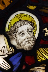 Fig. 3. Detail, The Miraculous Assembly of the Apostles, c.1450–55, 955 x 535cm, The National Trust (Felbrigg Hall, Norfolk), on loan to the church of St Peter Mancroft, Norwich