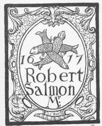 Fig. 5. The rebus of Robert Salmon at Trinity Hospital, Mile End Road, as drawn by Eden in 'Ancient Stained and Painted Glass in London' (p. 39).