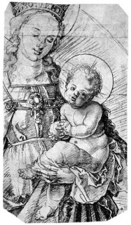Fig. 1. A design by Dürer of the Virgin and Child