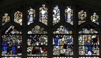 Fig. 4. St Mary and St Clement, Clavering, window nIII, panels 2a – 2d, A1 – A8.