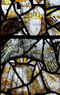 Fig. 2. Detail of the east window at East Harling: angel.
