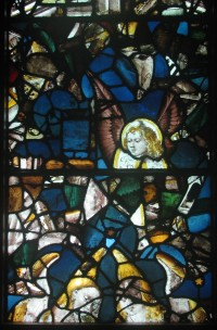 Fig. 4. Winchester Cathedral Lady Chapel glass in window NI of the Abbey Church, Caboolture. (Photograph: Michael Strong, Abbey Museum of Art and Archaeology)