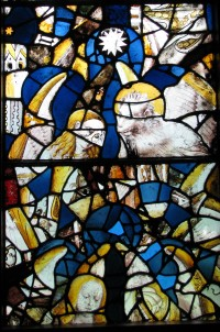 Fig. 5. Winchester Cathedral Lady Chapel glass in window SI of the Abbey Church, Caboolture. The beast is the lion of St Mark. (Photograph: Michael Strong, Abbey Museum of Art and Archaeology)