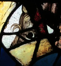 Fig. 15. Detail from window SI in the Abbey Church, Caboolture. (Photograph: Michael Strong, Abbey Museum of Art and Archaeology)
