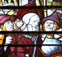 Fig. 22. Detail from the Passion windows in the chapel of King's College Cambridge. (Photograph: the author)