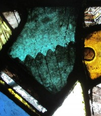 Fig. 29. Detail from window NI in the Abbey Church. (Photograph: Michael Strong, Abbey Museum of Art and Archaeology)