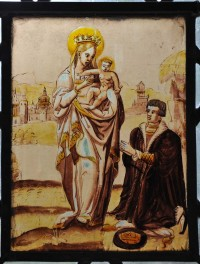 Fig. 1. 16th century panel from St Edmund King and Martyr, East Mersa sII panel 1b.