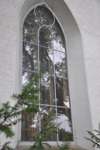 Fig. 9. Early example of single-pane protective glazing (storm window) from the parish church of Frauenfeld-Oberkirch, probably installed around 1900. Vitrocentre Romont