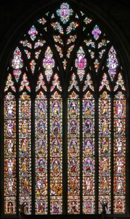 Fig. 1. East window, Tree of Jesse, English, c.1330, with later painting.