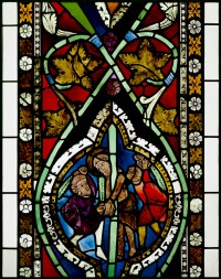 Fig. 4. Scene from the Bible window, c. 1276-91