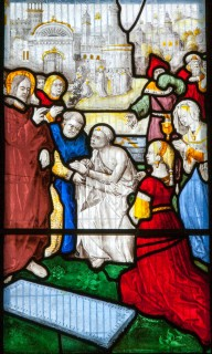 Fig. 5. Attributed to the St Gregory Master, The Raising of Lazarus, probably 1520s, Church of St Gwenllwyfo, Llanwenllwyfo.