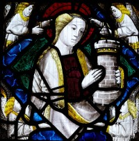 Fig. 4. Shiplake, window I, detail: St Barbara.