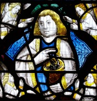 Fig. 5. Shiplake, window I, detail: St John the Evangelist.