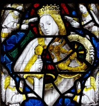 Fig. 6. Shiplake, window I, detail: St Katherine.