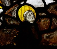 Fig. 7. Shiplake, window I, detail: Blessed Peter of Luxembourg.