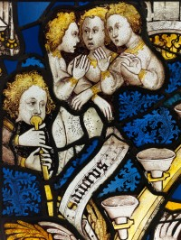 Fig. 1. Detail from panel 11h, The Great East Window, York Minster.