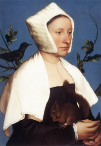 Fig. 1. 'Lady with a Squirrel and a Starling' by Hans Holbein, National Gallery, London.