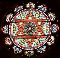 Fig. 1. The Star of David, Reading Synagogue, (c) English Heritage, photo by Michael Hesketh-Roberts