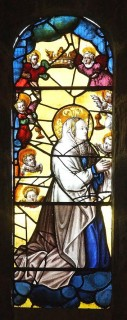 Fig. 1: Window depicting the coronation of the virgin before sustaining damage. By permission of the CCT.
