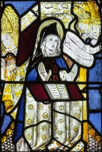 Fig. 2. Gresford, church of All Saints: the Annunciation to St Anne, 1498.