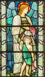 Fig. 4. Buckley, church of St Matthew: Henry Holiday's 'Child with Guardian Angel', 1902.