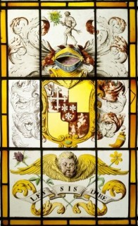 Fig. 3. Belsay Castle (Northumberland): arms of Sir John Middleton, bart., and Frances Lambert, married 15 June 1699. © English Heritage/Bob Smith