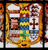 Fig. 4. Arms of Disney (originally d'Issigny and variants), quartering Dive, Disney (of Lincoln), Nevill (of Nottinghamshire?), d'Eyncourt, Crosholme, Harbin, Hussey and Clinton. © Gordon Plumb.