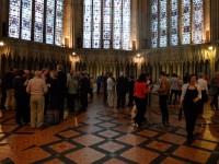 Fig. 3. Delegates enjoying the Chapter House, York Minster