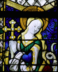 Fig. 2. Detail of St Margaret, Rouen Cathedral, 1466, attributed to Guillaume Barbe (fl. 1459–85).