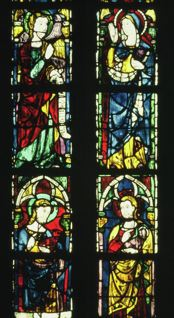 Fig. 7. Lower section of window containing image of the Virgin.