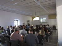 Fig. 2. Question session following Sílvia Cañellas's presentation. Photograph © Enric Teruel López