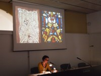 Fig. 3. Anna Santolaria presenting her paper on the Girona tables. Photograph © Enric Teruel López
