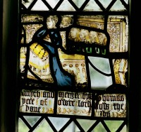 Fig. 1. Plemstall, St Peter: Margaret Smyth and daughters, c.1500