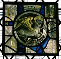 Fig. 3a. Sefton, St Helen: Evangelist symbol, 1540s.