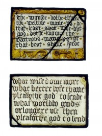 Fig. 4a. Liverpool, Walker Art Gallery: panels inscribed with verses, mid-16th-century.