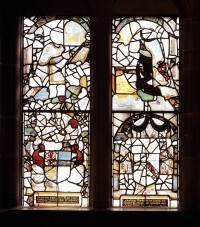 Fig. 5. High Legh, St Mary: window given by Thomas & Isabella Leigh, 1581.