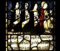 Fig. 7. Ashton-under-Lyne, St Michael and All Angels: Sir Thomas Ashton and wives, c.1500.
