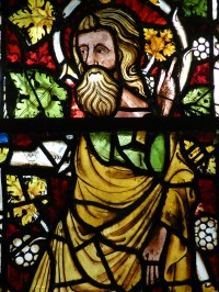 Fig. 4. Detail from window (c) Holy Well Glass.