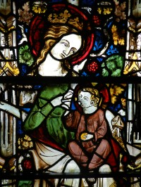 Fig. 6. Detail from window (c) Holy Well Glass.