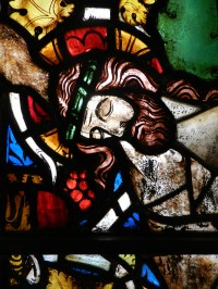 Fig. 9. Detail from window (c) Holy Well Glass.