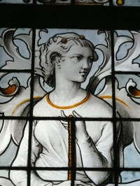 Fig. 3. Glazing in the portico of the château at Eu (Seine-Maritime): detail, October 2012. Amélie Duntze-Ouvry.