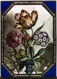 Fig. 1. A Vase of Flowers by William Peckitt, 1785 (c) Nick Teed.