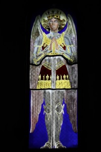 Fig. 1. Vallgorguina, private chapel: window depicting the Archangel Michael.
