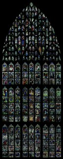 Fig.1. The Great East Window of York Minster (1405-1408) (Image courtesy of Mr Steve Farley, copyright York Glaziers Trust)